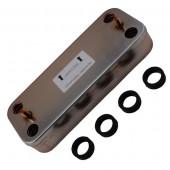 Вторичный теплообменник 12 пластин для котлов Ferroli  398901673
