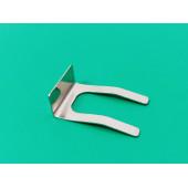 Зажим (фиксатор) электрического привода (сервопривода) трехходового клапана. Назначение: крепление привода трехходового клапана к корпусу Материал: сталь Артикул 8380680.